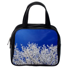 Crown Aesthetic Branches Hoarfrost Classic Handbags (one Side)