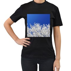 Crown Aesthetic Branches Hoarfrost Women s T Shirt (black)