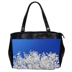 Crown Aesthetic Branches Hoarfrost Office Handbags (2 Sides)