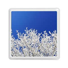 Crown Aesthetic Branches Hoarfrost Memory Card Reader (square)