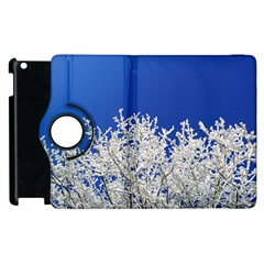 Crown Aesthetic Branches Hoarfrost Apple Ipad 2 Flip 360 Case