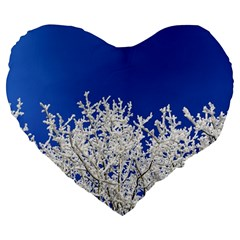 Crown Aesthetic Branches Hoarfrost Large 19  Premium Heart Shape Cushions