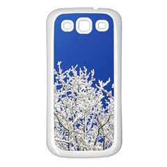 Crown Aesthetic Branches Hoarfrost Samsung Galaxy S3 Back Case (white)