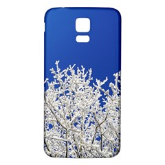 Crown Aesthetic Branches Hoarfrost Samsung Galaxy S5 Back Case (white)