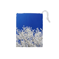 Crown Aesthetic Branches Hoarfrost Drawstring Pouches (small)