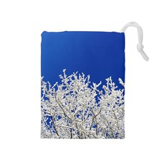 Crown Aesthetic Branches Hoarfrost Drawstring Pouches (medium)