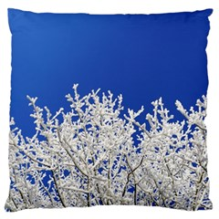 Crown Aesthetic Branches Hoarfrost Large Flano Cushion Case (one Side)