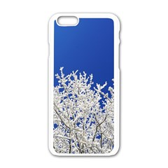Crown Aesthetic Branches Hoarfrost Apple Iphone 6/6s White Enamel Case