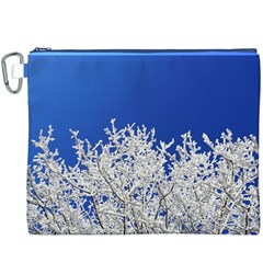 Crown Aesthetic Branches Hoarfrost Canvas Cosmetic Bag (xxxl)