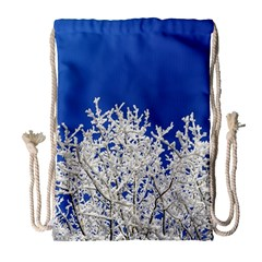 Crown Aesthetic Branches Hoarfrost Drawstring Bag (large)