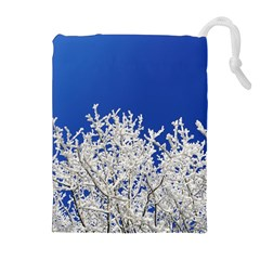 Crown Aesthetic Branches Hoarfrost Drawstring Pouches (extra Large)