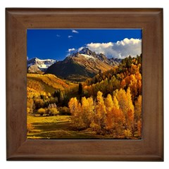 Colorado Fall Autumn Colorful Framed Tiles