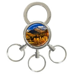 Colorado Fall Autumn Colorful 3 Ring Key Chains