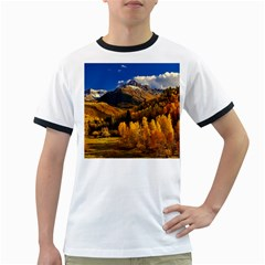 Colorado Fall Autumn Colorful Ringer T Shirts