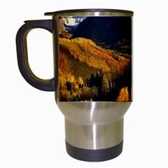 Colorado Fall Autumn Colorful Travel Mugs (white)