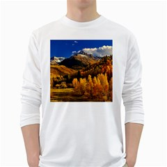 Colorado Fall Autumn Colorful White Long Sleeve T Shirts