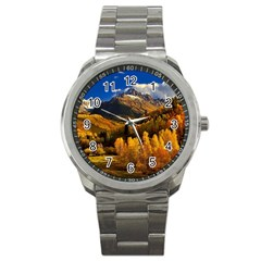 Colorado Fall Autumn Colorful Sport Metal Watch