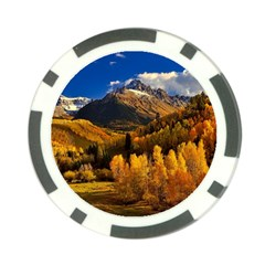 Colorado Fall Autumn Colorful Poker Chip Card Guard