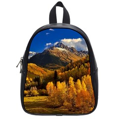 Colorado Fall Autumn Colorful School Bag (small)