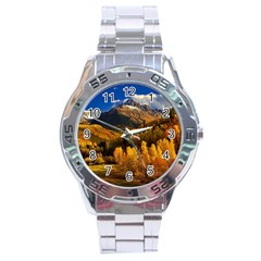 Colorado Fall Autumn Colorful Stainless Steel Analogue Watch