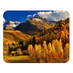 Colorado Fall Autumn Colorful Double Sided Flano Blanket (large)