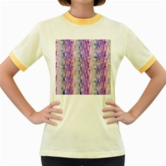 Splashes Pattern Women s Fitted Ringer T Shirts