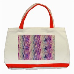 Splashes Pattern Classic Tote Bag (red)