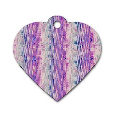Splashes Pattern Dog Tag Heart (one Side)