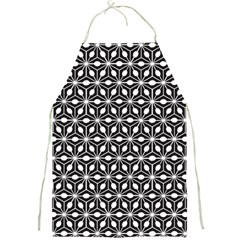 Asterisk Black White Pattern Full Print Aprons