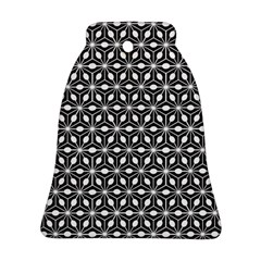 Asterisk Black White Pattern Bell Ornament (two Sides)
