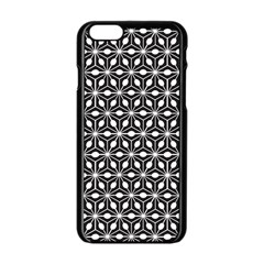 Asterisk Black White Pattern Apple Iphone 6/6s Black Enamel Case