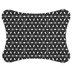 Asterisk Black White Pattern Jigsaw Puzzle Photo Stand (bow)