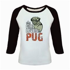 This Girl Loves Her Pug Kids Baseball Jerseys