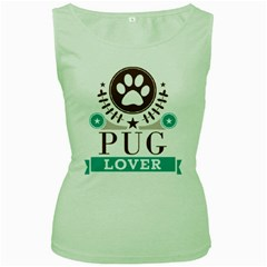 Pug Lover Women s Green Tank Top