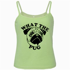 What The Pug Green Spaghetti Tank
