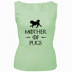 Mother Of The Pugs Women s Tank Top (green)