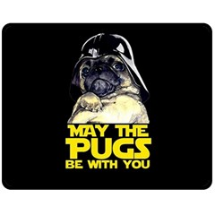 May The Pugs Be With You Fleece Blanket (medium)