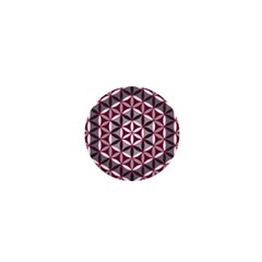 Flower Of Life Pattern Red Grey 01 1  Mini Buttons
