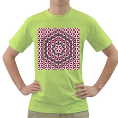 Flower Of Life Pattern Red Grey 01 Green T Shirt