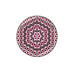 Flower Of Life Pattern Red Grey 01 Hat Clip Ball Marker
