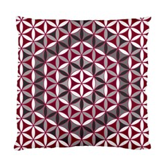 Flower Of Life Pattern Red Grey 01 Standard Cushion Case (two Sides)