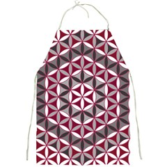 Flower Of Life Pattern Red Grey 01 Full Print Aprons