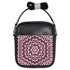 Flower Of Life Pattern Red Grey 01 Girls Sling Bags