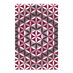 Flower Of Life Pattern Red Grey 01 Shower Curtain 48  X 72  (small)
