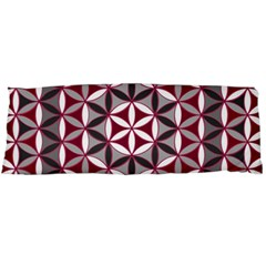 Flower Of Life Pattern Red Grey 01 Body Pillow Case Dakimakura (two Sides)