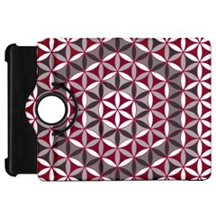 Flower Of Life Pattern Red Grey 01 Kindle Fire Hd 7
