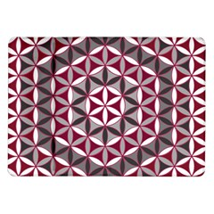 Flower Of Life Pattern Red Grey 01 Samsung Galaxy Tab 10 1  P7500 Flip Case