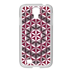 Flower Of Life Pattern Red Grey 01 Samsung Galaxy S4 I9500/ I9505 Case (white)