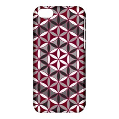 Flower Of Life Pattern Red Grey 01 Apple Iphone 5c Hardshell Case