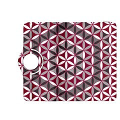 Flower Of Life Pattern Red Grey 01 Kindle Fire Hdx 8 9  Flip 360 Case
